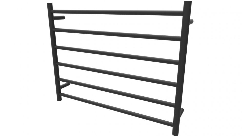 Linsol Allegra 6 Bar Wide Heated Towel Rail - Matte Black