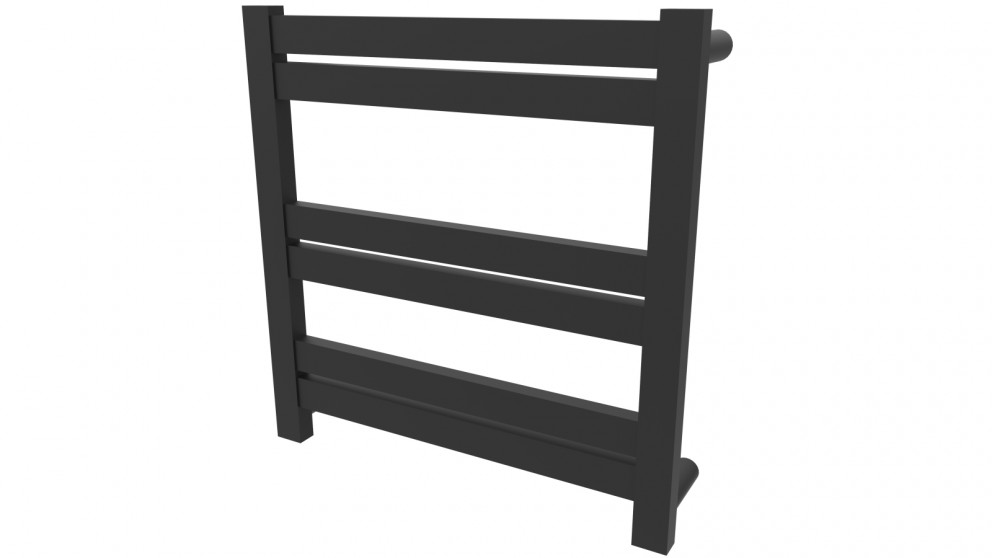 Linsol Siena 6 Bar Heated Towel Rail - Matte Black