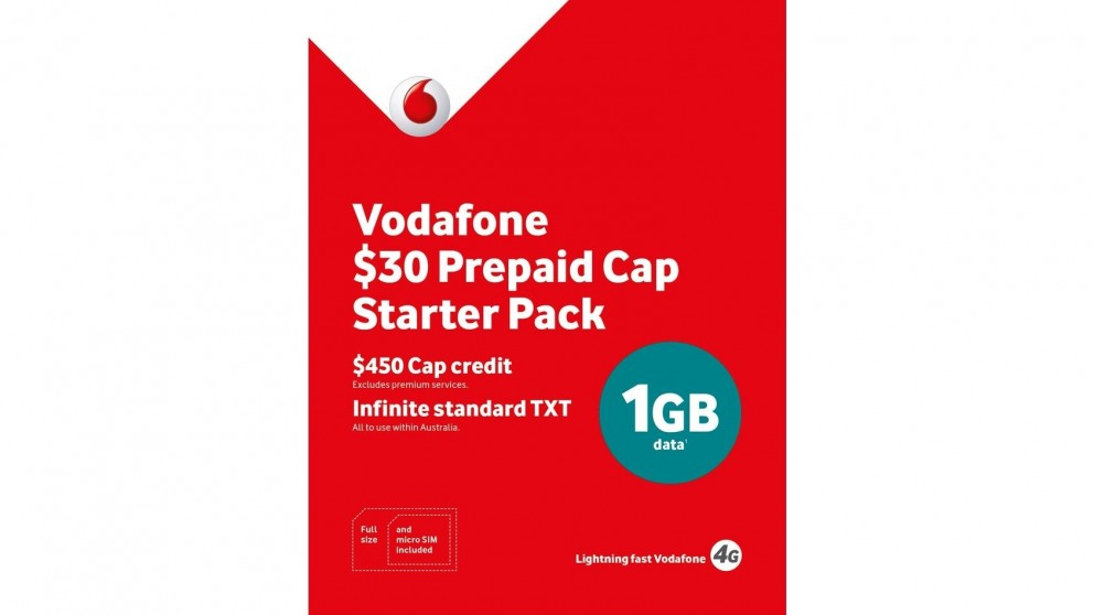 Vodafone $30 Multi-Fit Pre-Paid Starter Pack