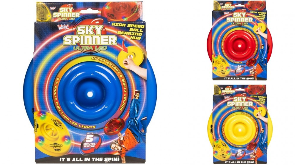 Wicked Sky Spinner Ultra LED Flying Disc Spins Up To 500RPM