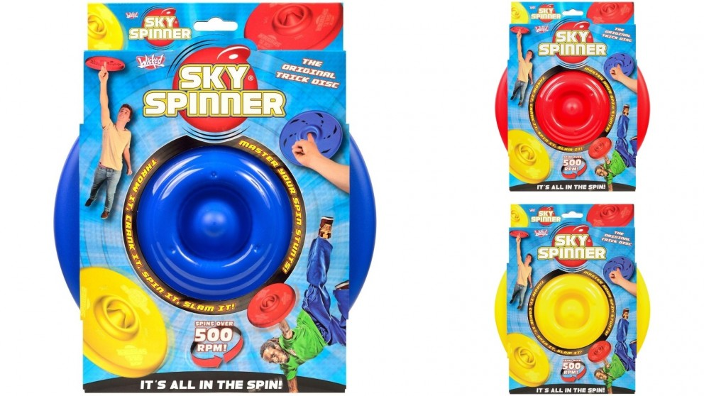 Wicked Sky Spinner Flying Disc Crank It And Spin It Up To 500RPM