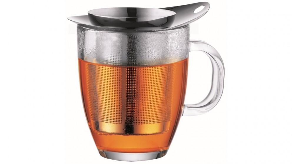 Bodum 0.35L 12oz Mug Glass and Tea Strainer Stainless Steel