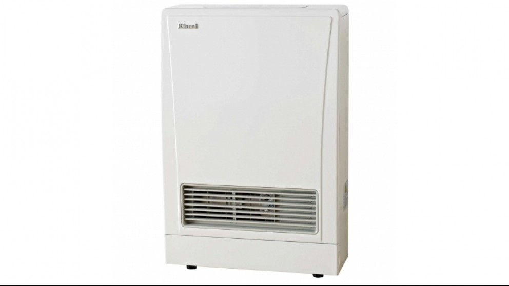 Rinnai EnergySaver 309FT Flued Natural Gas Fan Heater - White