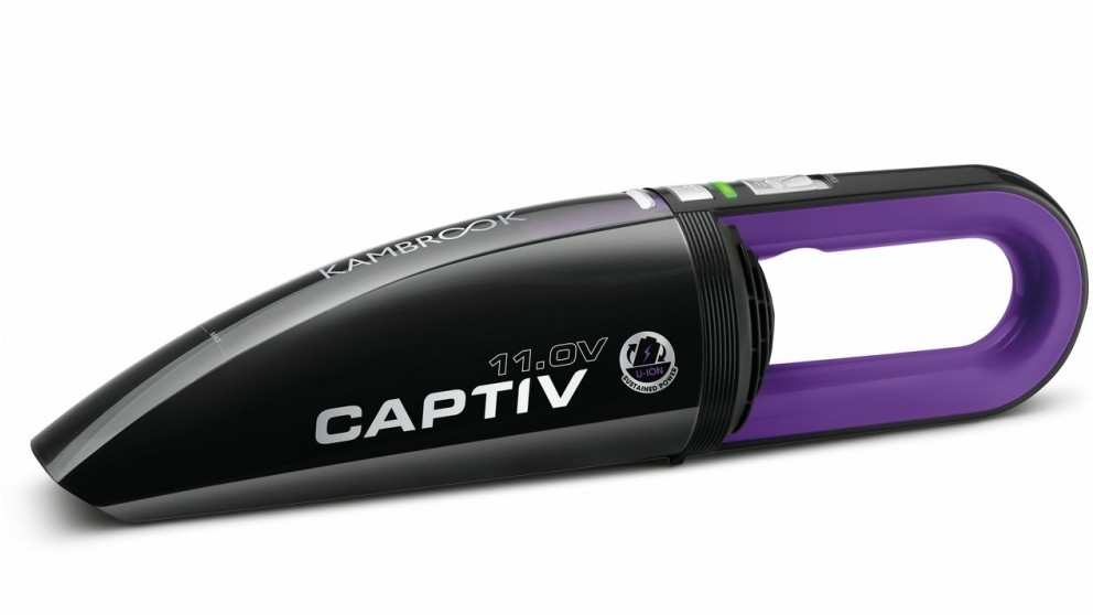 Kambrook Captive 11V Lithium-Ion Portable Hand-held Vacuum - Purple