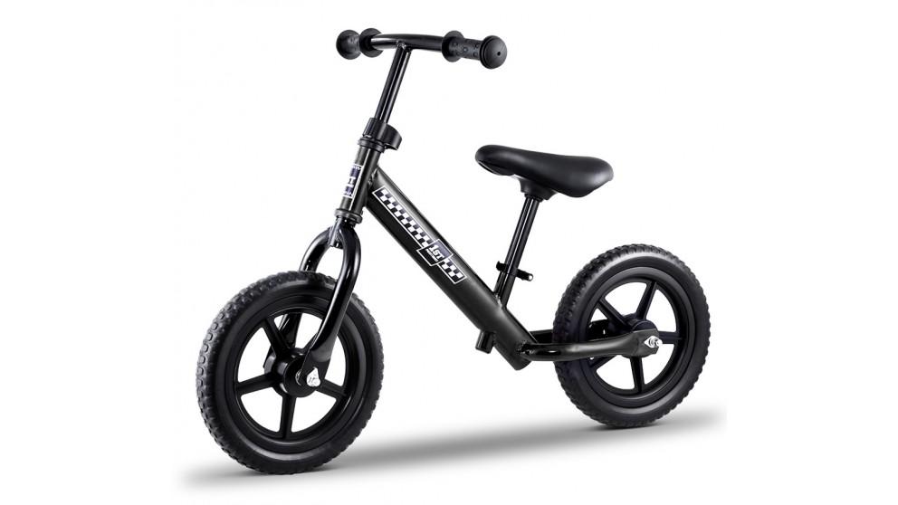 12-inch Kids Balance No Pedal Scooter Bike - Black