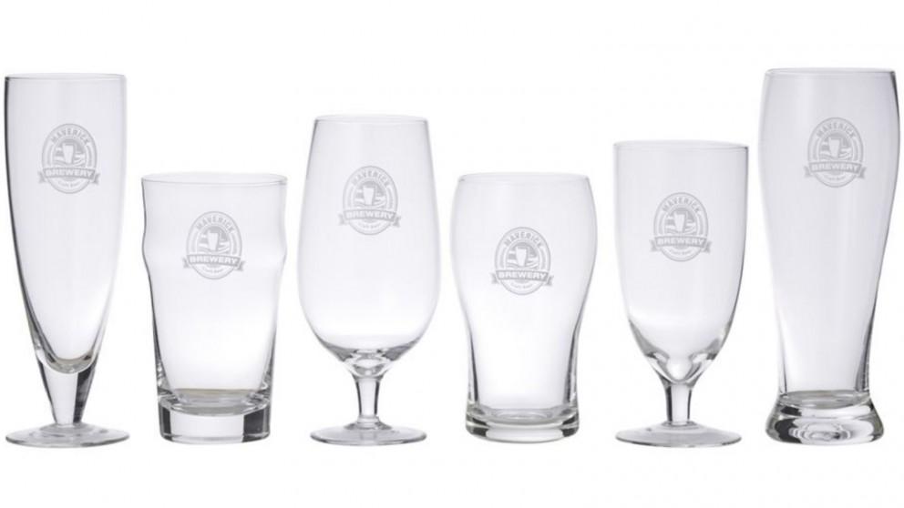 Davis & Waddell Maverick Beer Connoisseur Glass Set 12 Piece