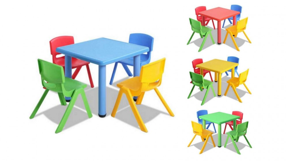 Keezi 5 Piece Kids Table Chair, Toddler Table And Chairs Set