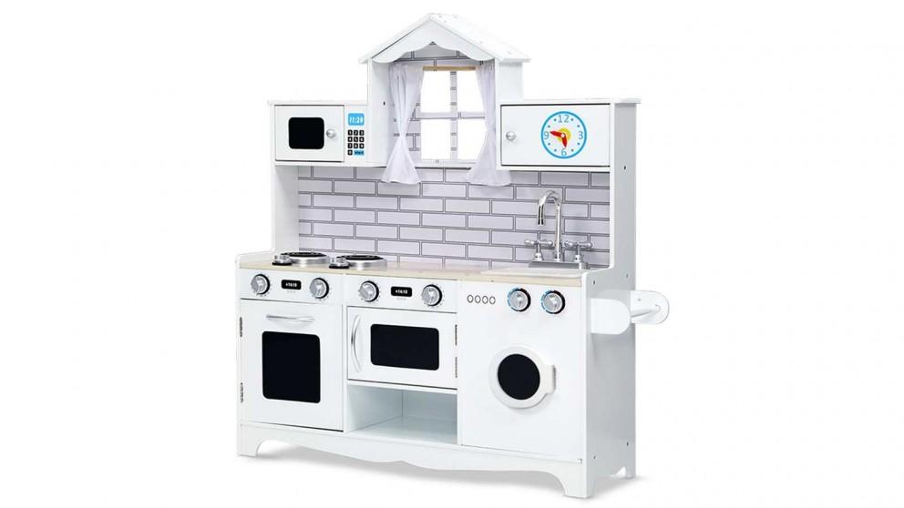 Keezi Kids Kitchen Set Play Food Set - White