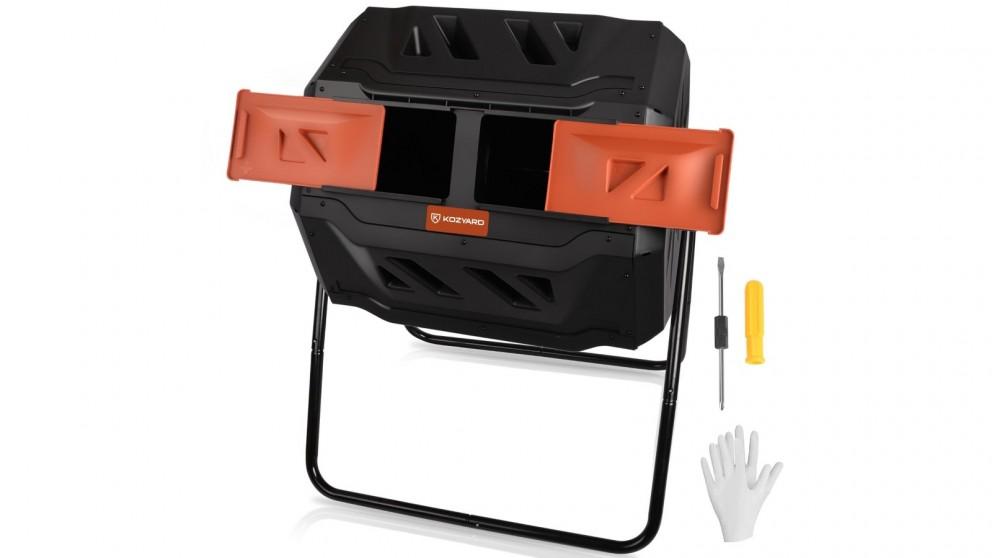 Kozyard Dual Compost Bin 360 Degree Rotating