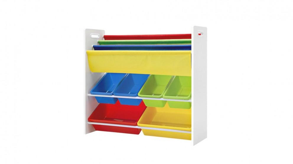 Artiss Kids 3T Display Organizer Rack - White