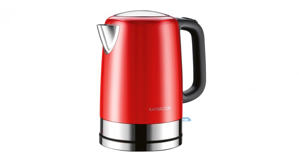 Kambrook 1.7L BPA Free Stainless Steel Kettle - Red