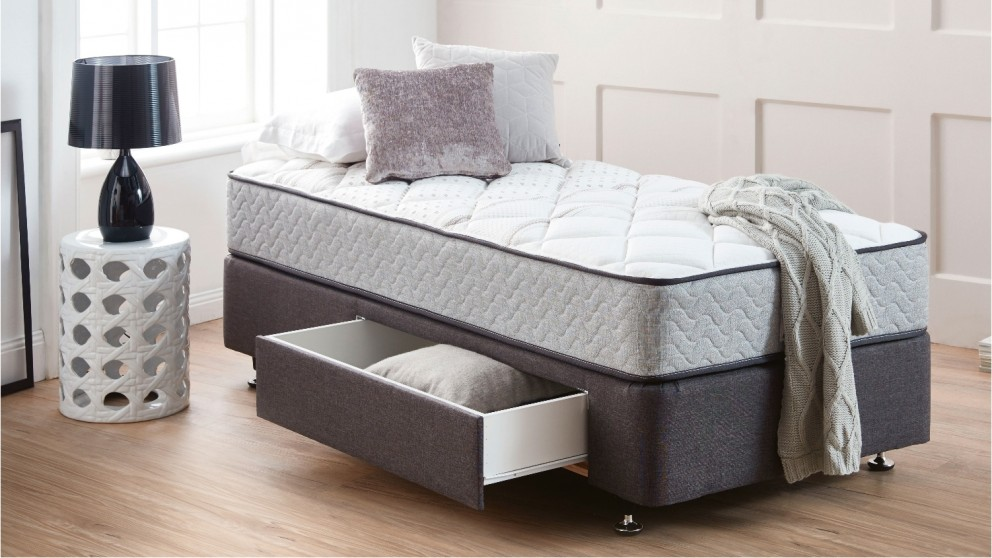 King Koil Long Single 1 Drawer Designer Base