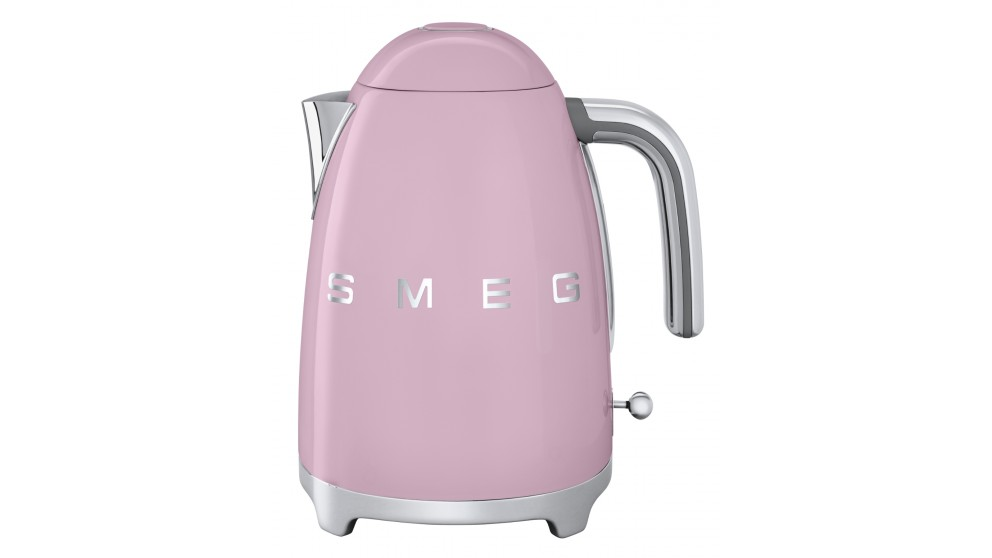Smeg 1.7L 50's Retro Style Aesthetic Electric Kettle - Pink