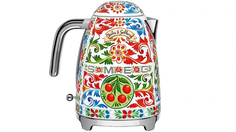31895c71b952 Buy Smeg Dolce & Gabbana Kettle - Sicily is my Love | Harvey Norman AU