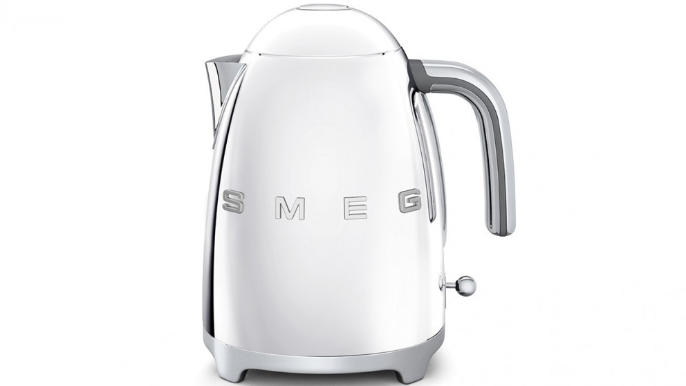 Smeg 50's Style Badged Kettle - Stainless