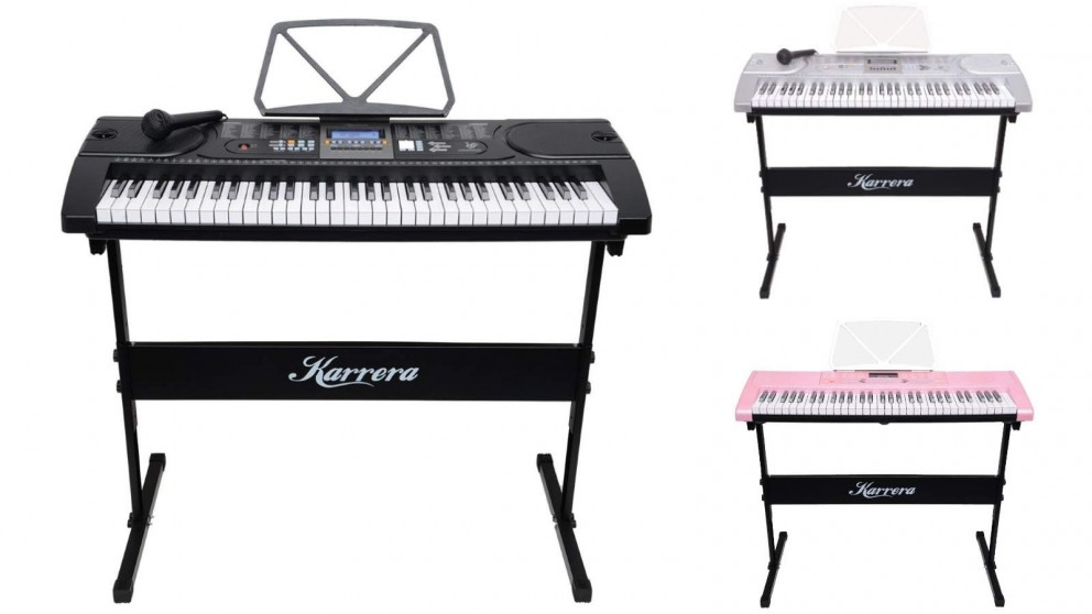 Karrera 61 Keys Electronic Keyboard Piano with Stand