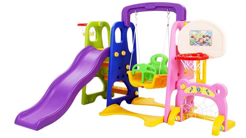 Keezi Kids Slide Swing Basketball Hoop - Pink