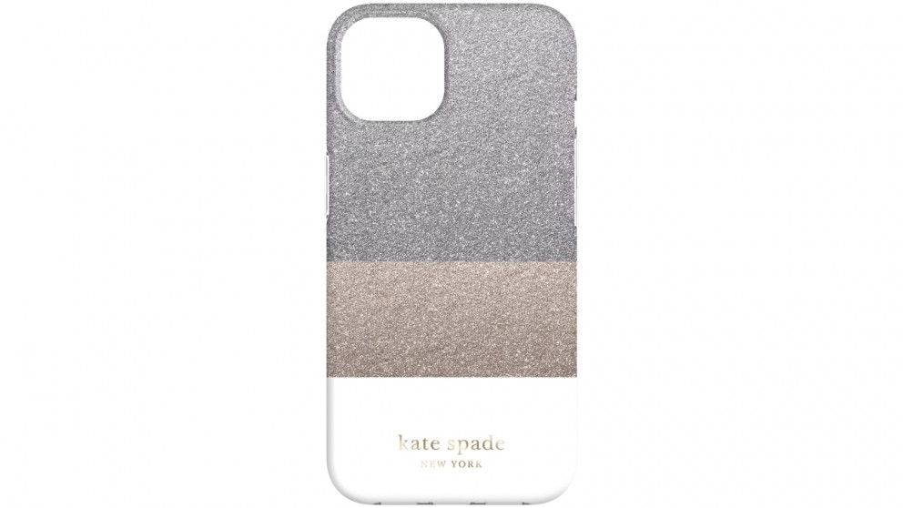 Kate Spade New York Case for iPhone 13 - Glitter White
