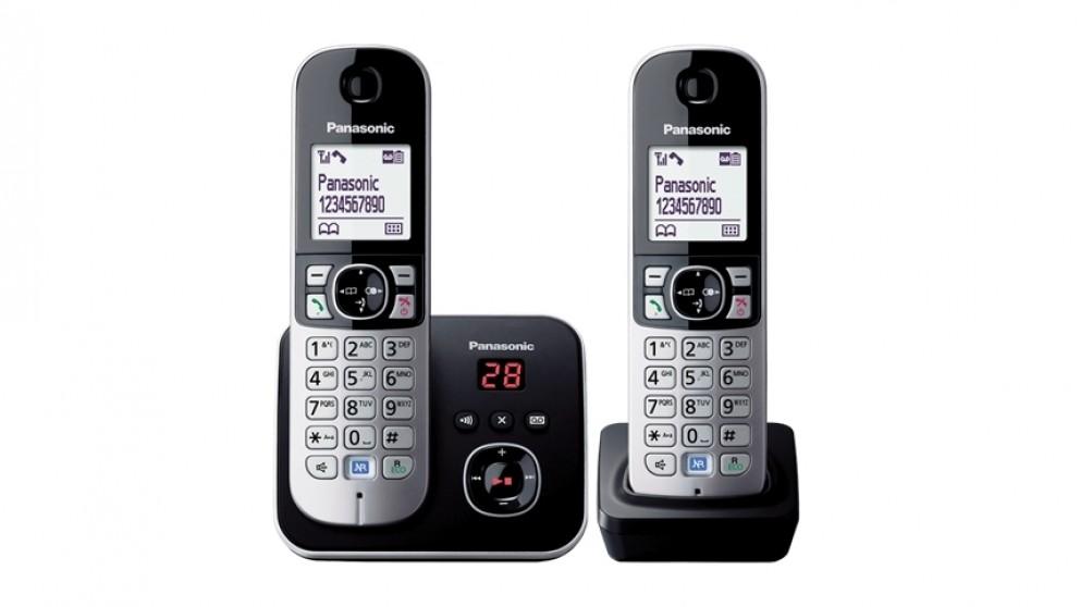 Panasonic KXTG6822ALB DECT Twin Handset Cordless Phone