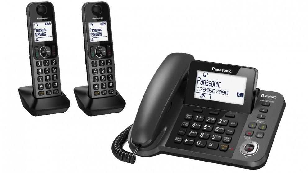 Panasonic DECT TGF38 Series Corded + Twin Cordless Home Phone