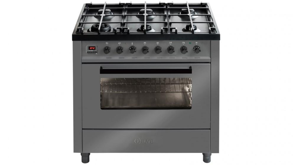 ILVE 90cm Pro-Line Freestanding Cooker - Grigio Lusso