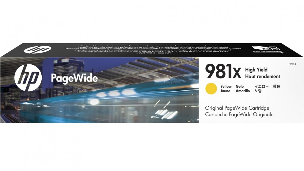 HP 981X High Yield PageWide Ink Cartridge - Yellow