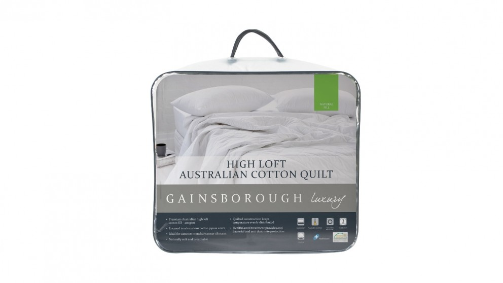 Gainsborough Luxury Superior High Loft Cotton Double Quilt