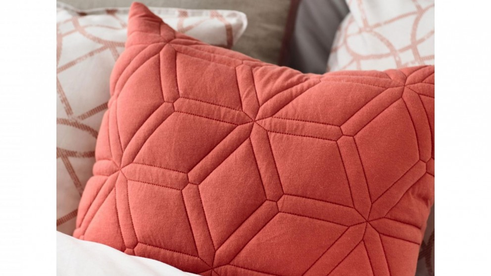 Aurora Quilted Coral Jersey Cushion