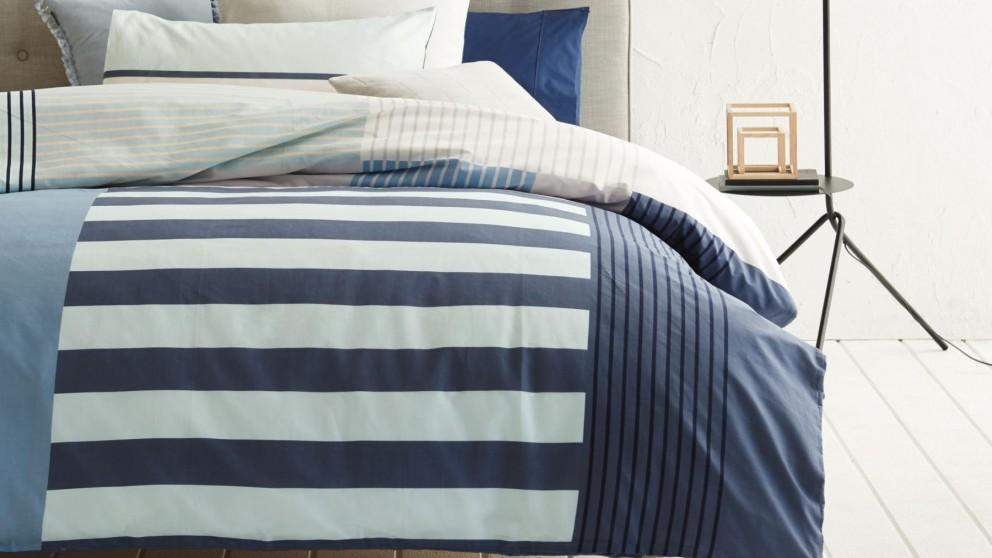 Noma Blue Quilt Cover Set - Double