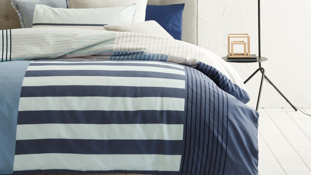 Noma Blue Quilt Cover Set - King