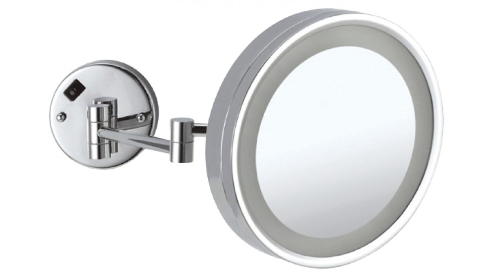 Thermogroup Ablaze 250mm 3x Magnification LED Mirror with Extendable Arm - Chrome