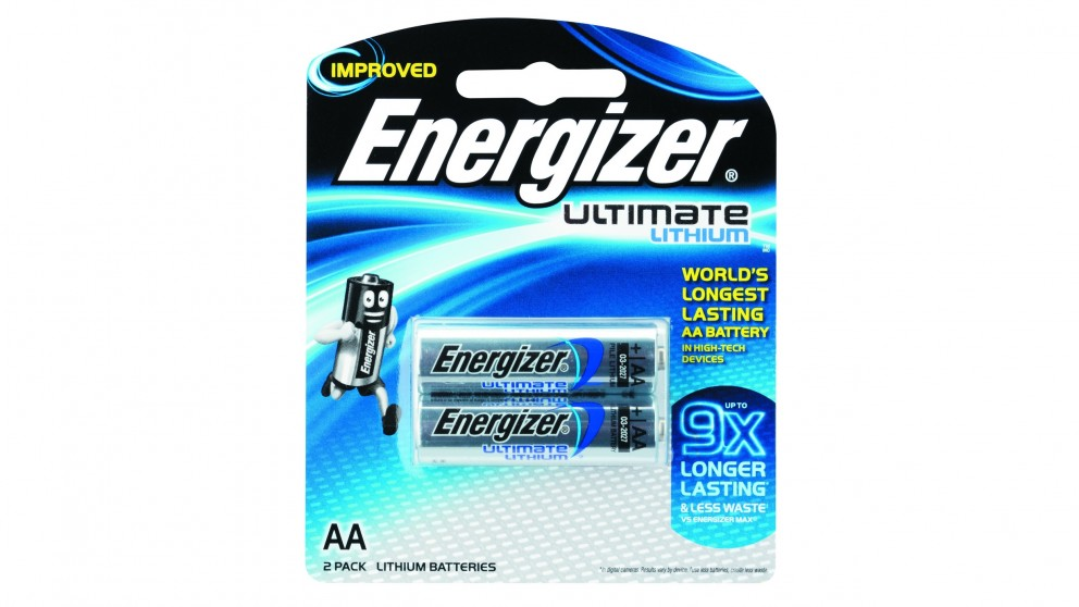 Energizer Ultimate Lithium AA Batteries - 2 Pack