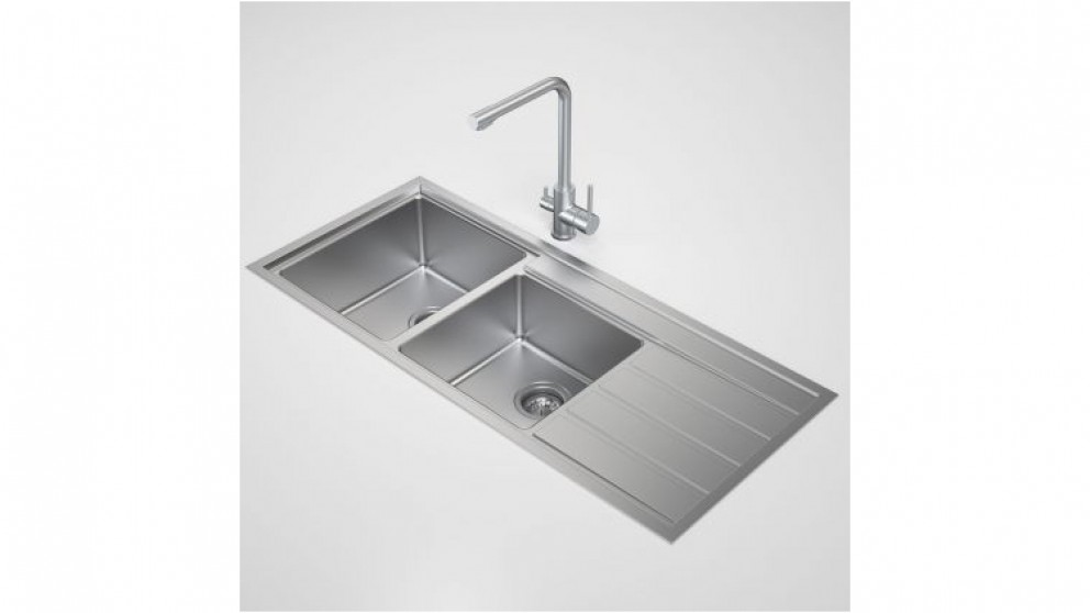 Caroma Compass 1.75 Left Hand Bowl Sink No Tap Hole