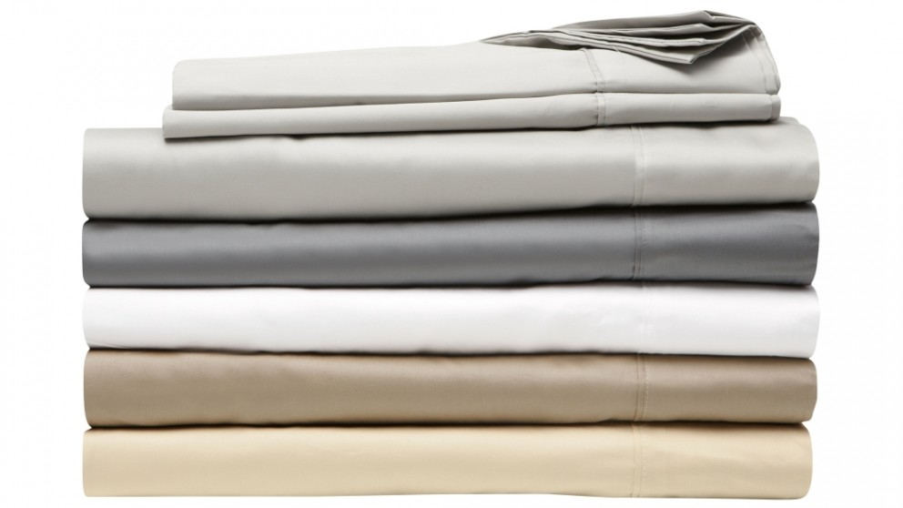 L'Avenue 500TC King Single Sheet Set - Silver - 50cm