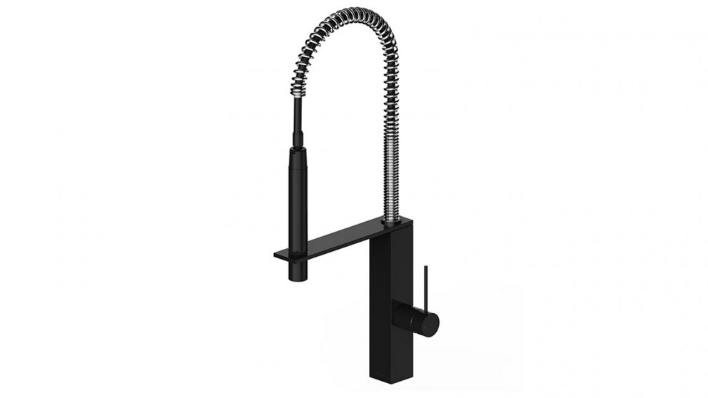 Matte Black Kitchen Mixer Pull Out