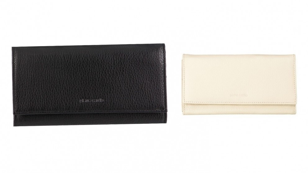 Italian Leather Flap Over Wallet