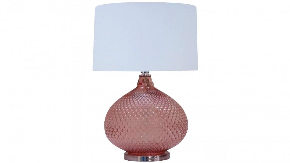 Hobnail Pink Table Lamp