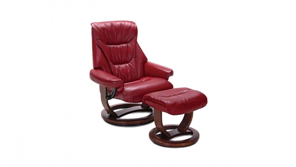 Langham Large Leather Recliner u0026 Footstool  sc 1 st  Harvey Norman & Langham Large Leather Recliner u0026 Footstool - Recliner Chairs ... islam-shia.org
