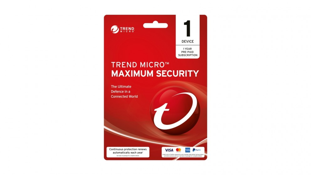 Trend Micro Maximum Security Digital Download - 1 Year for 1 Device