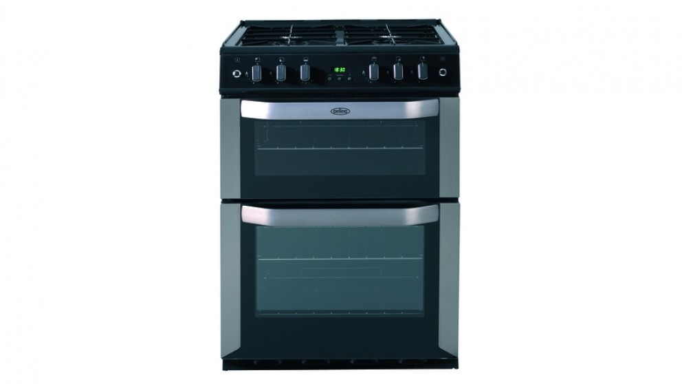 Belling 600mm Freestanding Natural Gas Twin Cavity Cooker - Stainless Steel