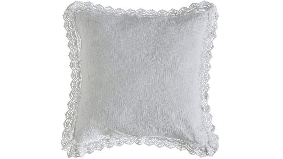 L'Avenue Tallulah White European Pillowcase