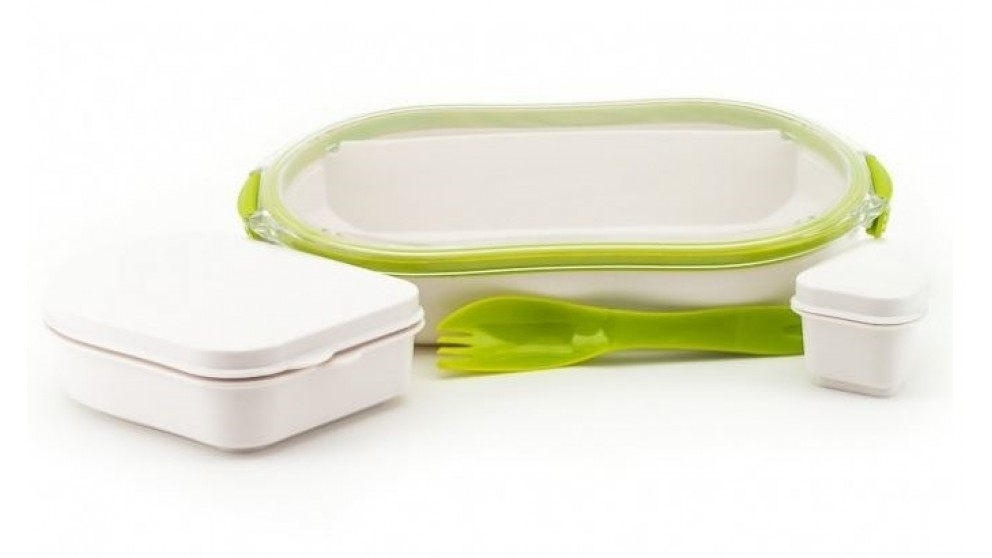 Neoflam Take-N-Eat Lunch Box - White/Green