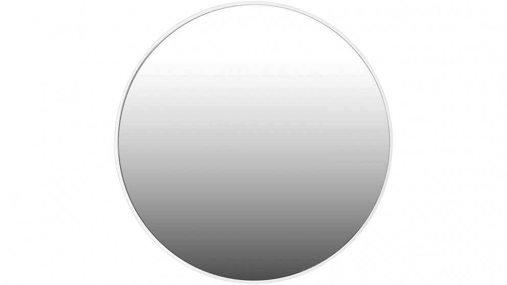 Ledin Mirage Round 700mm White Framed Mirror