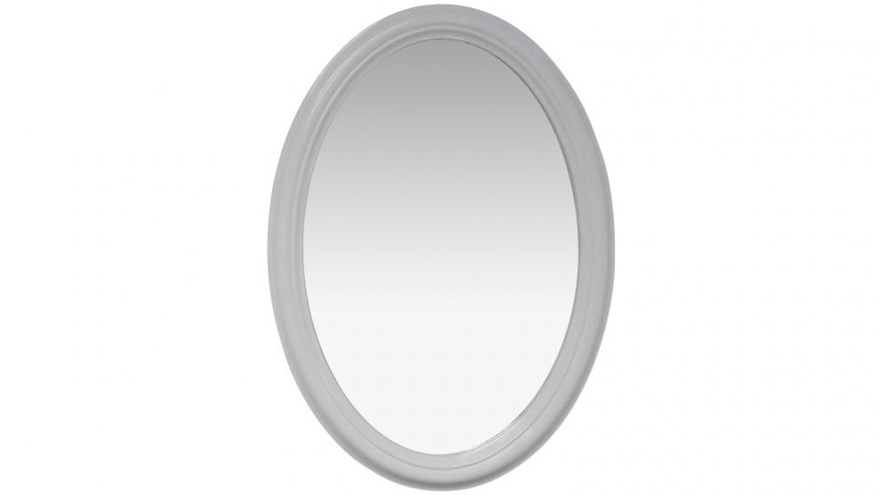 Buy Ledin Oval 650 Classic Classic Framed Mirror - White   Harvey ...