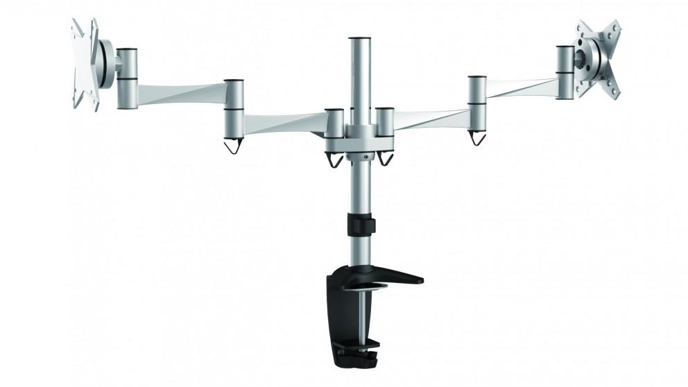 "Brateck Elegant Dual LCD Flexi Arm Monitor Mount - 13"" - 27"""