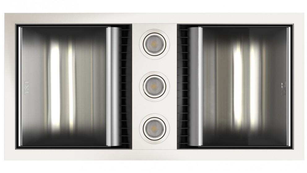 IXL Neo Tastic Dual Bathroom Heat, Fan & Light - White