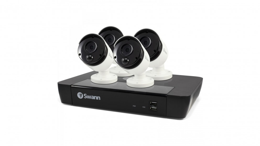 Swann NVR8-8580 8 Channel 4K NVR Security System with 4 Camera