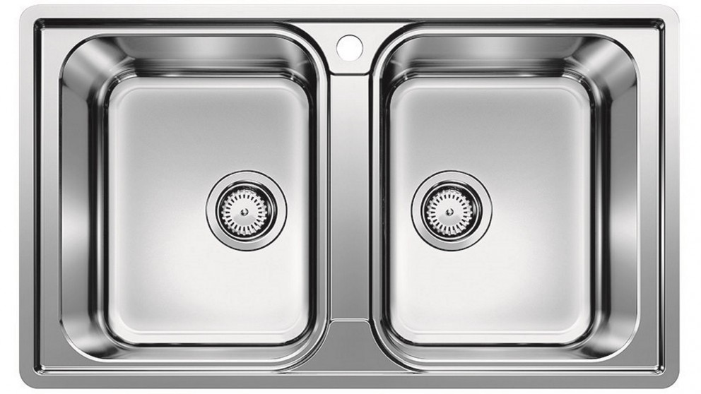 Blanco Inset/Flushmount Double Bowl Sink - Stainless Steel