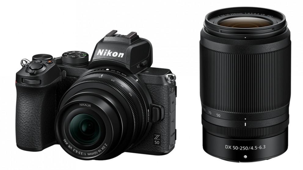 Nikon Z50 Digital Camera with 16-50mm + 50-250mm Lens Kit