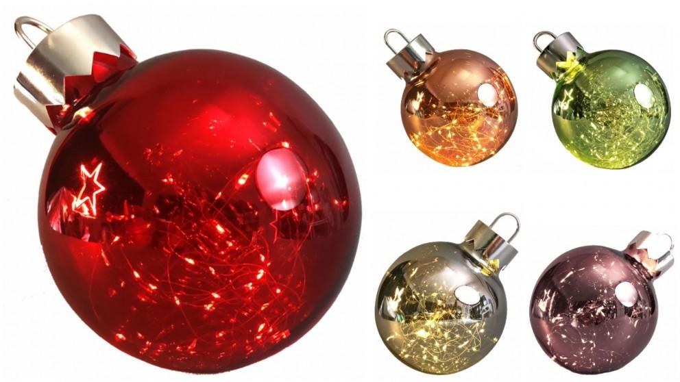 Lexi Lighting Illuminated Christmas Bauble